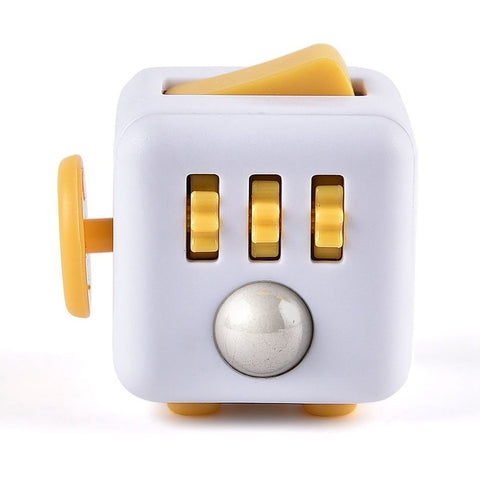Fidget Cube - White & Yellow