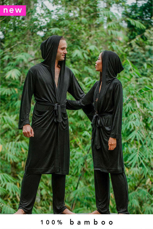 Two Nooboo 100% Bamboo Luxe Kimonos + Lounge Pants - Style 1104 KM - 1.6 kg