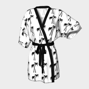 Palm Tree Silk Robe