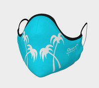 Oasis Face Covering Blue with Palm Trees
