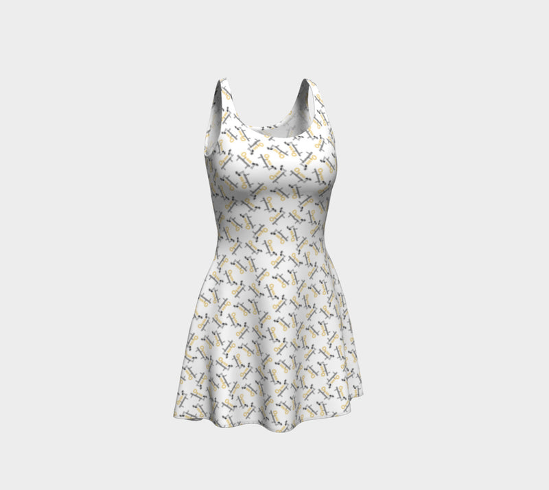 Oasis White Flare Dress