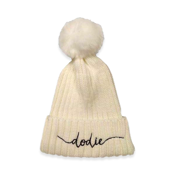 DODIE OFF WHITE BOBBLE HAT