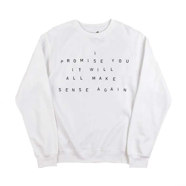 I PROMISE LYRIC WHITE SWEATSHIRT
