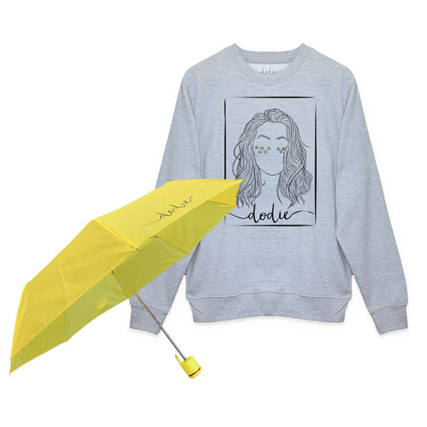 PORTRAIT GREY SWEATSHIRT/UMBRELLA BUNDLE