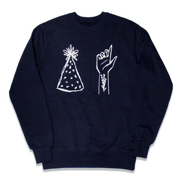 PARTY TATTOOS NAVY SWEATSHIRT