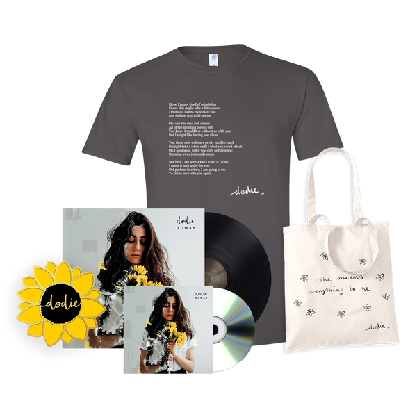 ULTIMATE HUMAN BUNDLE WITH  VINYL AND CD (ARMS UNFOLDING T-SHIRT)