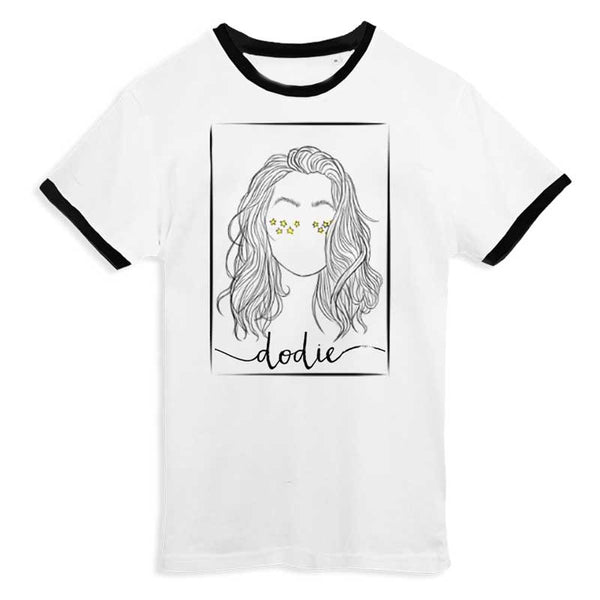 PORTRAIT WHITE RINGER T-SHIRT