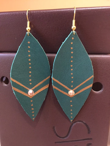 Leather Earrings by Pretty Cactus