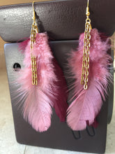 Pink and Mauve Feather Earrings by Pretty Cactus