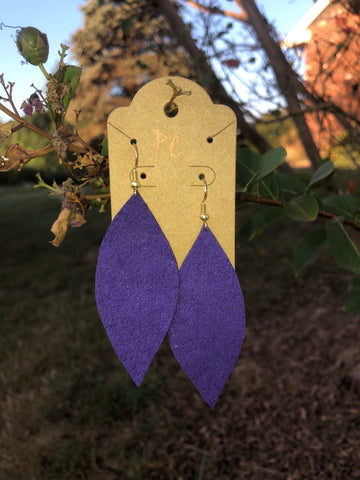 Royal purple earrings by Pretty Cactus