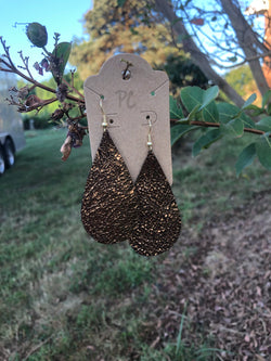 Bronze teardrop earrings by Pretty Cactus