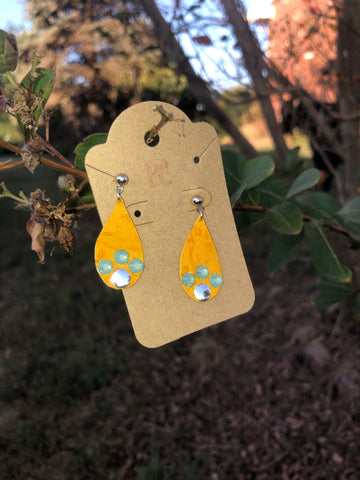 Petite teardrop earrings by Pretty Cactus
