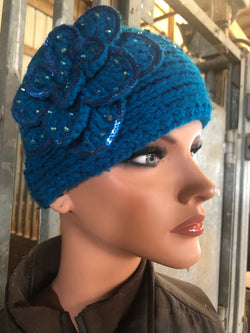 Teal ear warmer