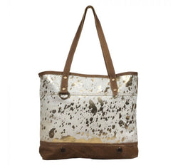 Largish leather tote bag by Myra