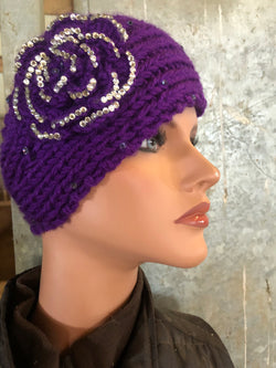 Purple ear warmer