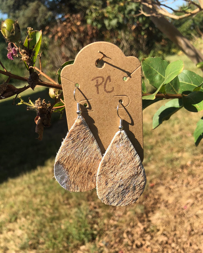 Cowhide earrings by pretty cactus