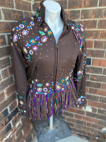 Small brown base jacket by Ritzee Designs
