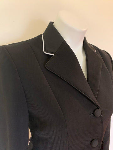 The Huntress black thin line tone on tone coat
