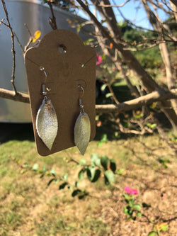 XS silver teardrop earrings by pretty cactus