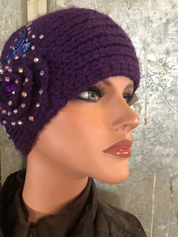 Purple on purple ear warmer