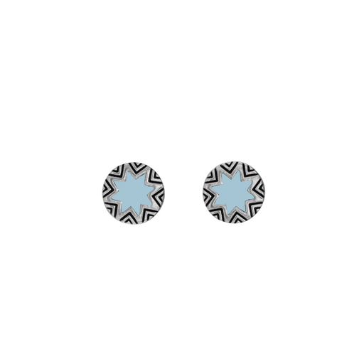 Mini Engraved Sunburt Stud Earrings