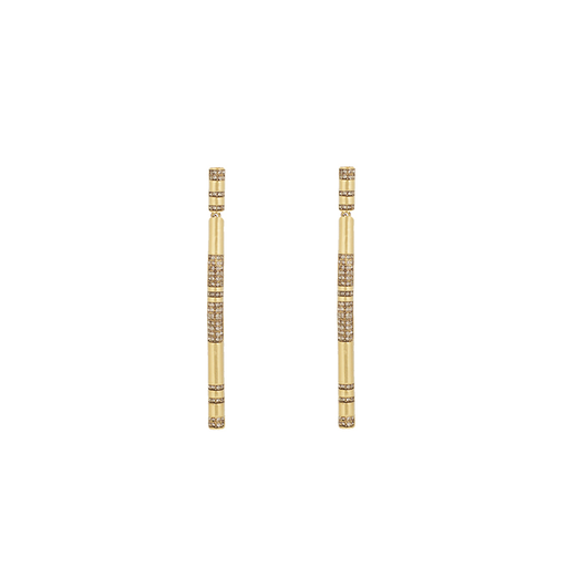 ATUM PAVE BAR EARRINGS