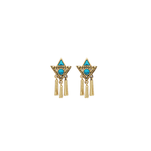 Navajo Turquoise Statement Earrings