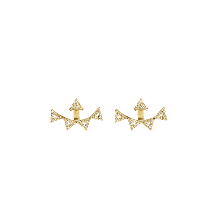Warrior Statement Pave Ear Jackets
