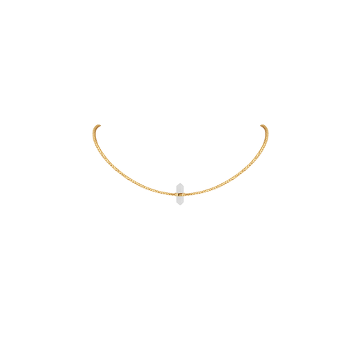 Clear Single Crystal Choker Necklace