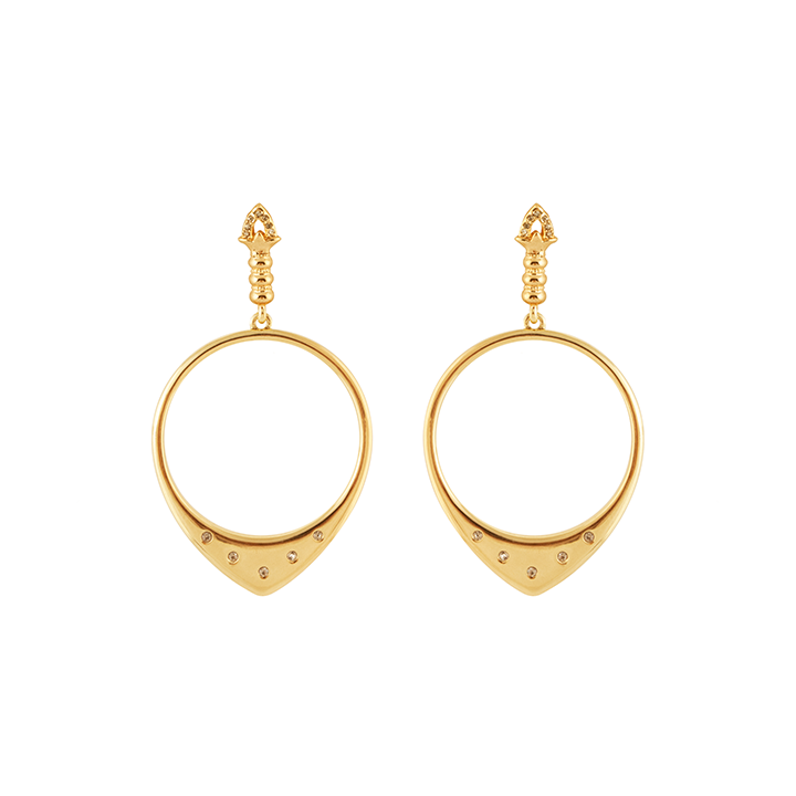 Gold Luna Statement Earrings