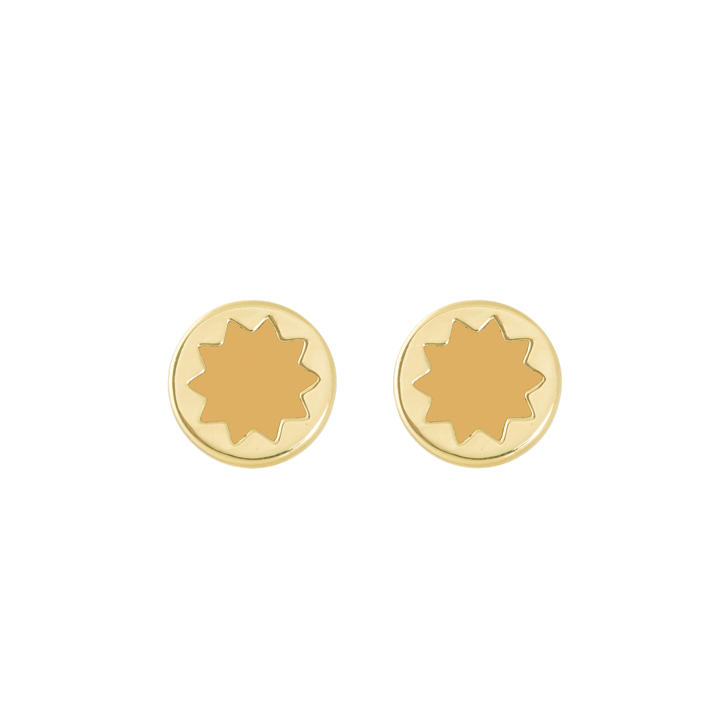 Gracy Lace Enamel Mini Sunburst Earrings