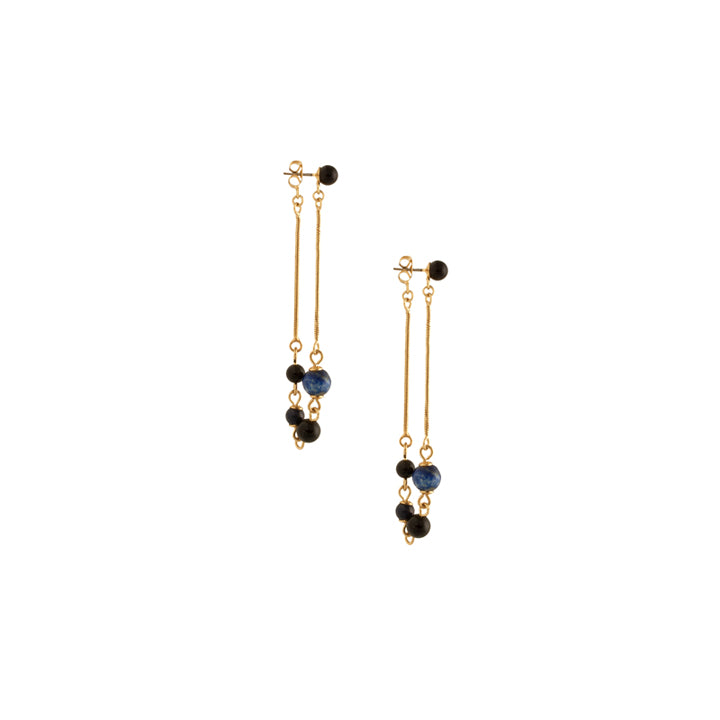 Lapis & Black Ulli Dangle Earrings