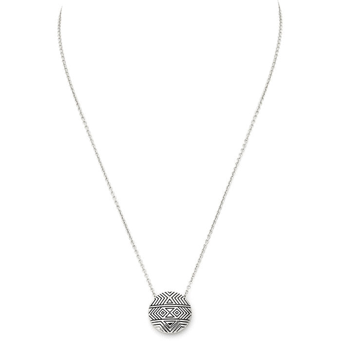 Silver Tholos Mosaic Necklace