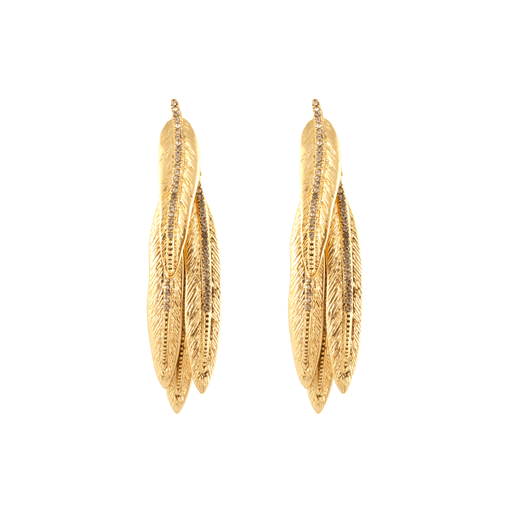 Gold Cedro Dangle Earrings