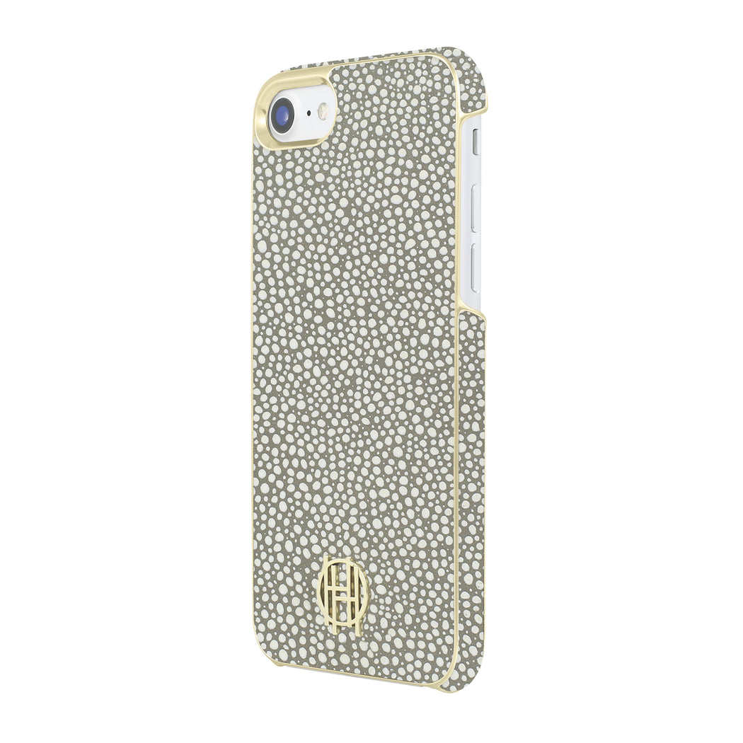Snap Case for iPhone 8 & iPhone 7 - Grey Galuchat/Gold Metallic