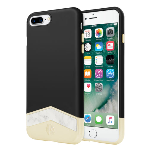 Slider Case (2-PC) for iPhone 7 Plus - Black/White Marble
