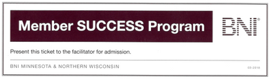 Member SUCCESS Program Ticket