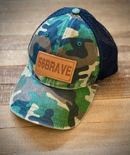56 Brave Hat (Camo and Leather)