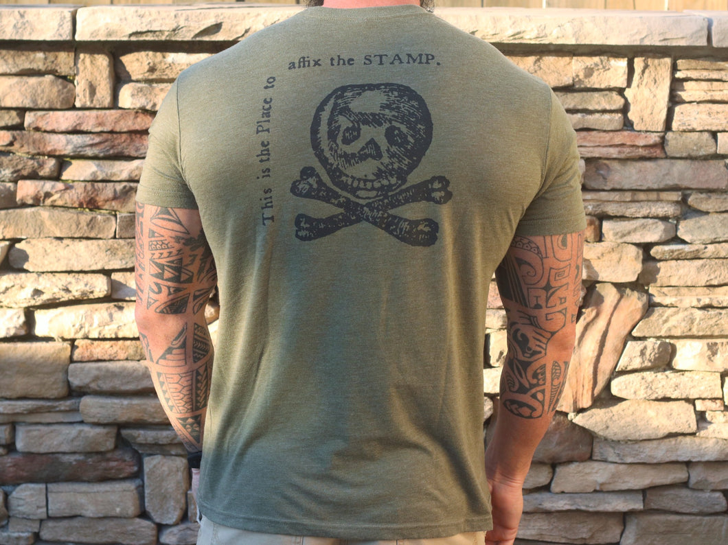 Tax Stamp, T-Shirt, Men's (Army Green)