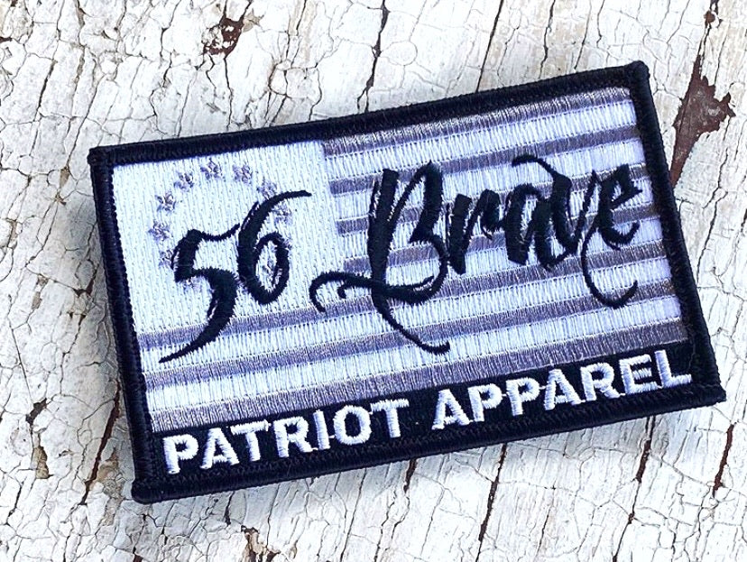 56 Brave Embroidered Patch