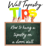 How to hang a tapestry on a dorm wall (3 major technics)
