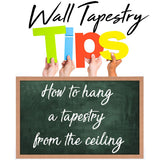 How to hang a tapestry on the ceiling (4 steps to make it stay)