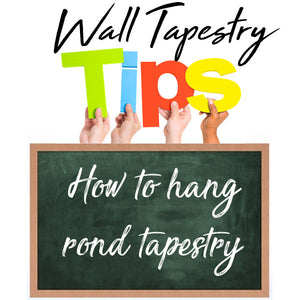 How to hang effectively a round tapestry (on your walls)