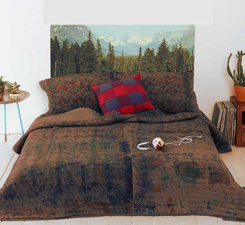 wall tapestry headboard