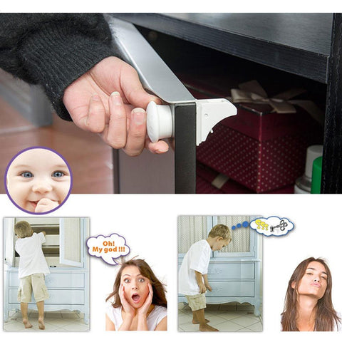 Baby Safety Magnetic Cabinet Locks (Without Drilling Or Screws ...