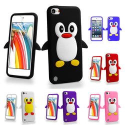 3D Cartoon Penguin Gel Shockproof Case For ipod touch 5 5th 5G / Touch 6 6th
