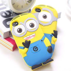 3D Cartoon Despicable Me Yellow Minions Case For iPod Touch 5 6