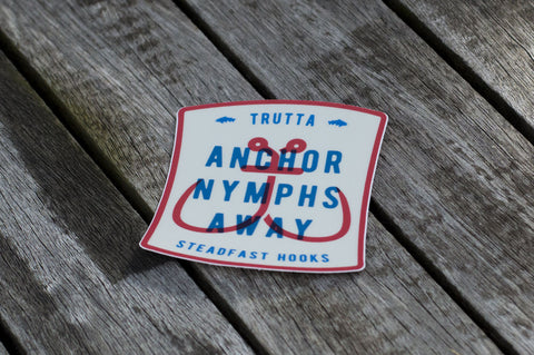 Anchor Nymphs Away Sticker