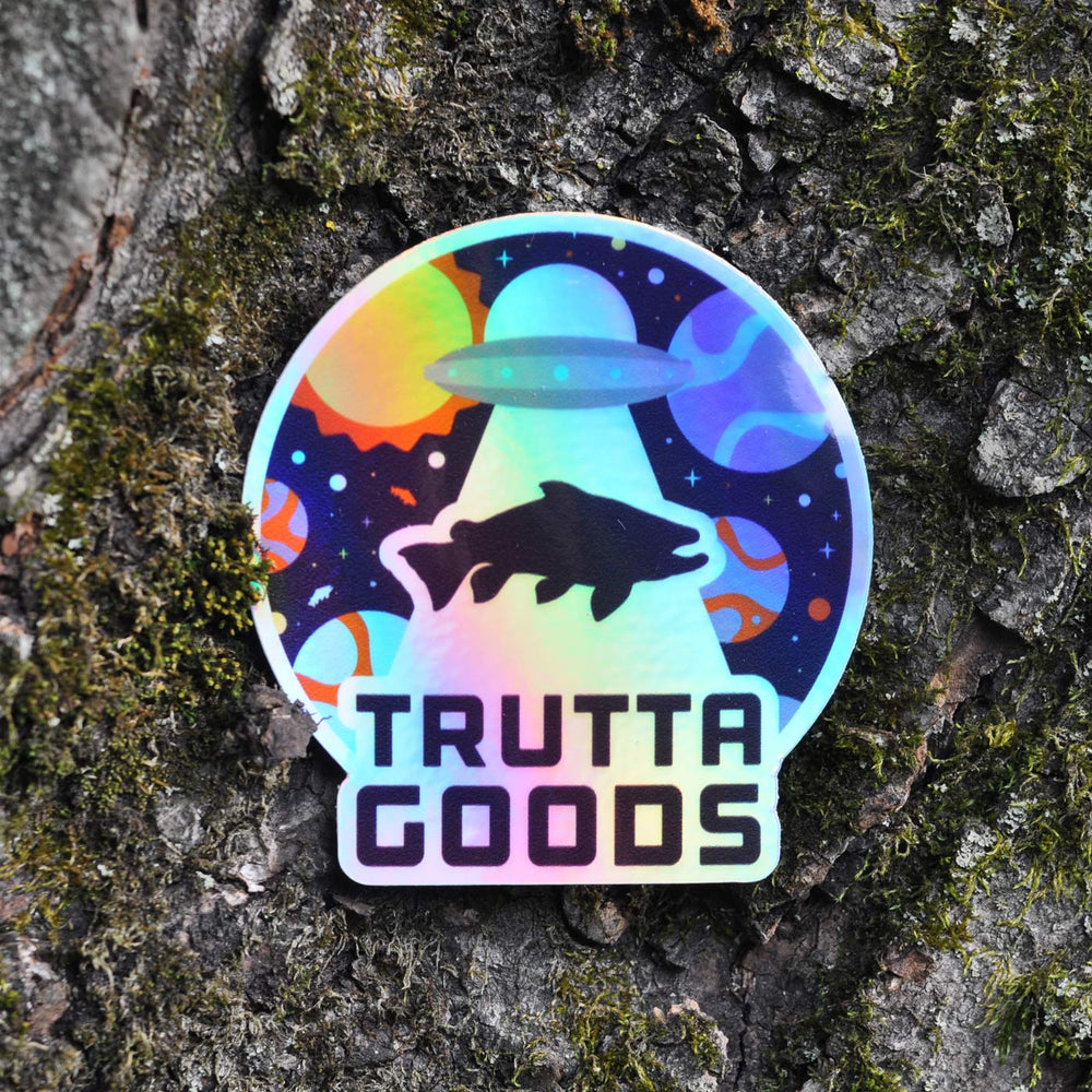 Trouterspace Holographic Sticker