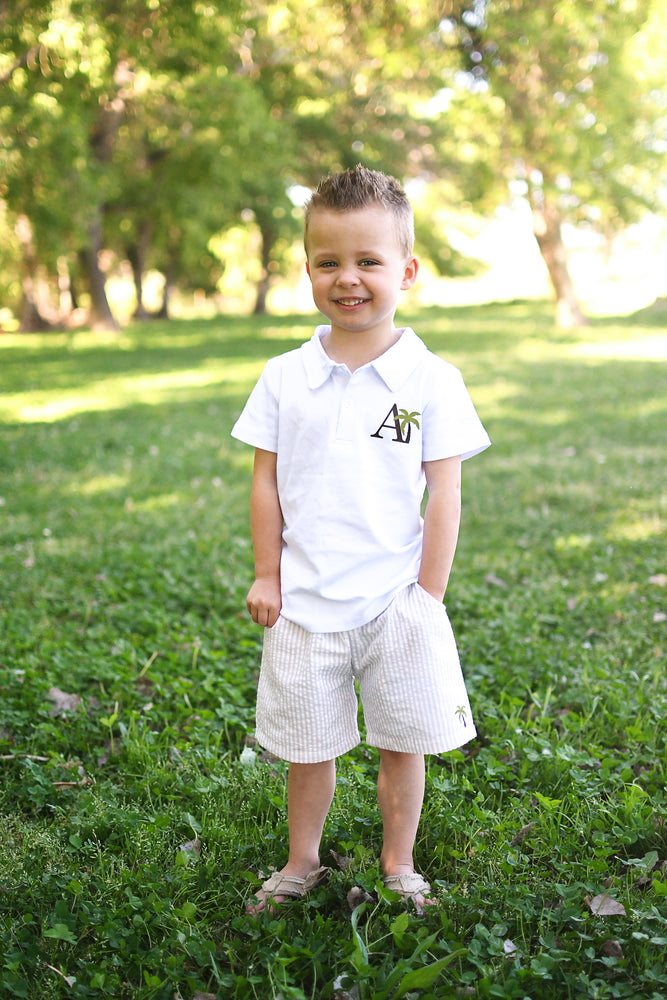 Boys Palm Collection Polo or Seersucker Shorts Outfit